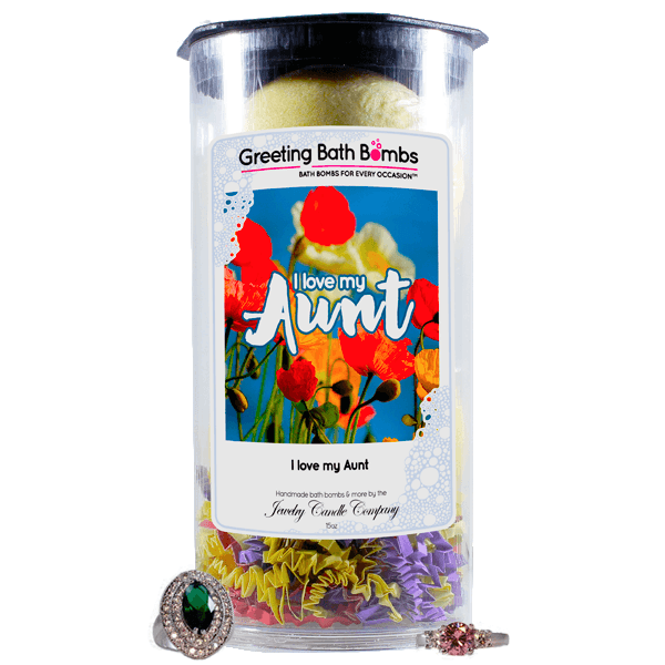 I love you Aunt! | Greeting Bath Bombs®-Jewelry Bath Bombs-The Official Website of Jewelry Candles - Find Jewelry In Candles!