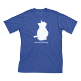 I Love My Bombay | Must Love Cats® White On Heathered Royal Blue Short Sleeve T-Shirt-Must Love Cats® T-Shirts-The Official Website of Jewelry Candles - Find Jewelry In Candles!