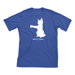 I Love My Calico | Must Love Cats® White On Heathered Royal Blue Short Sleeve T-Shirt-Must Love Cats® T-Shirts-The Official Website of Jewelry Candles - Find Jewelry In Candles!