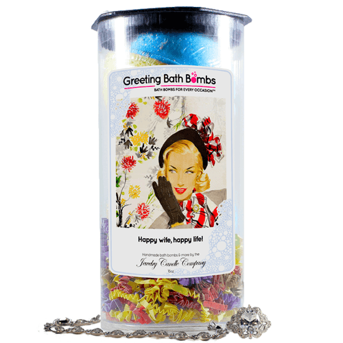 Happy Wife, Happy Life! | Greeting Bath Bombs®-Jewelry Bath Bombs-The Official Website of Jewelry Candles - Find Jewelry In Candles!