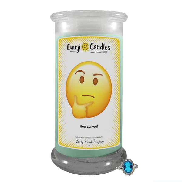 How Curious! | Emoji Candle®-Emoji Candles-The Official Website of Jewelry Candles - Find Jewelry In Candles!
