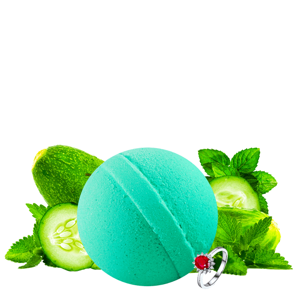 Cucumber Mint | Single Jewelry Bath Bomb®-Jewelry Bath Bombs-The Official Website of Jewelry Candles - Find Jewelry In Candles!