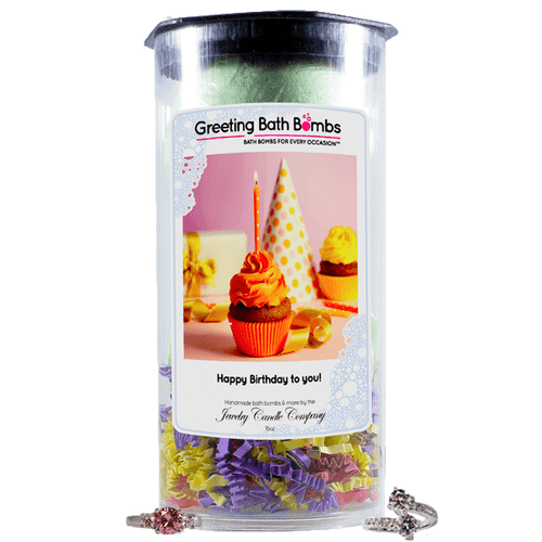 Happy Birthday To You! | Greeting Bath Bombs®-Jewelry Bath Bombs-The Official Website of Jewelry Candles - Find Jewelry In Candles!