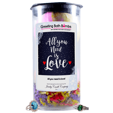 All you need is love! | Greeting Bath Bombs®-Jewelry Bath Bombs-The Official Website of Jewelry Candles - Find Jewelry In Candles!