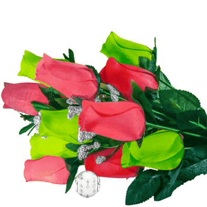 Coral & Green Bouquet | Charm Roses®