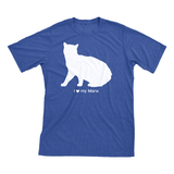 I Love My Manx | Must Love Cats® White On Heathered Royal Blue Short Sleeve T-Shirt-Must Love Cats® T-Shirts-The Official Website of Jewelry Candles - Find Jewelry In Candles!