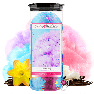 Cotton Candy Jewelry Bath Bomb-Jewelry Bath Bombs-The Official Website of Jewelry Candles - Find Jewelry In Candles!