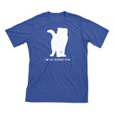 I Love My Scottish Fold | Must Love Cats® White On Heathered Royal Blue Short Sleeve T-Shirt-Must Love Cats® T-Shirts-The Official Website of Jewelry Candles - Find Jewelry In Candles!