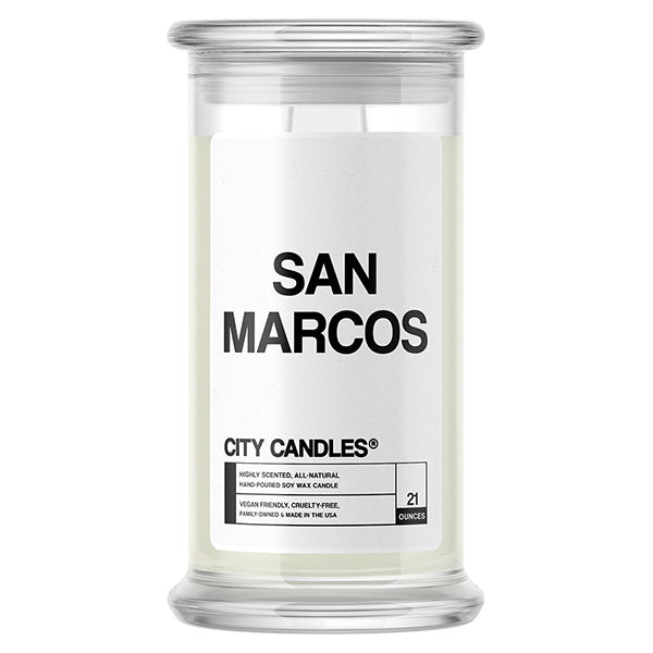 San Marcos City Candle