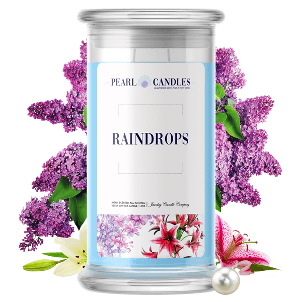 Raindrops | Pearl Candle®-Pearl Candles®-The Official Website of Jewelry Candles - Find Jewelry In Candles!