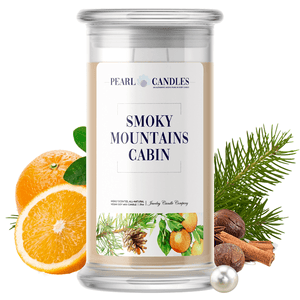 Smoky Mountains Cabin | Pearl Candle®-Pearl Candles®-The Official Website of Jewelry Candles - Find Jewelry In Candles!