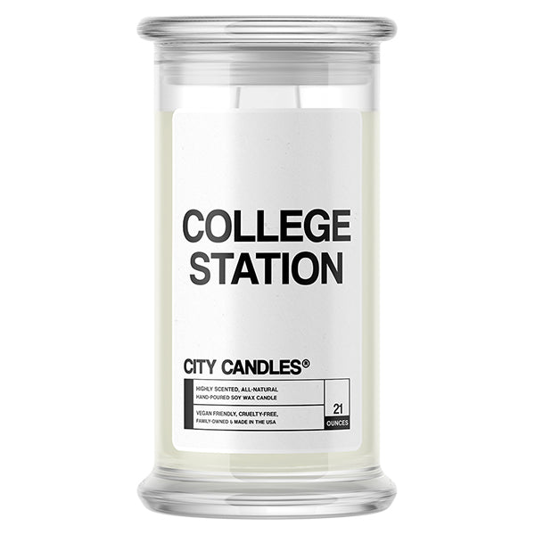 College Station City Candle