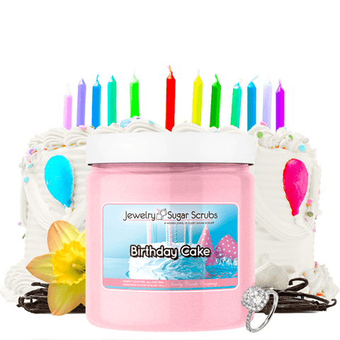 Birthday Cake | Single Jewelry Sugar Scrub®-Jewelry Sugar Scrub®-The Official Website of Jewelry Candles - Find Jewelry In Candles!