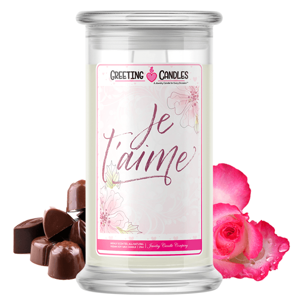 Je T'aime | Valentine's Day Jewelry Greeting Candle