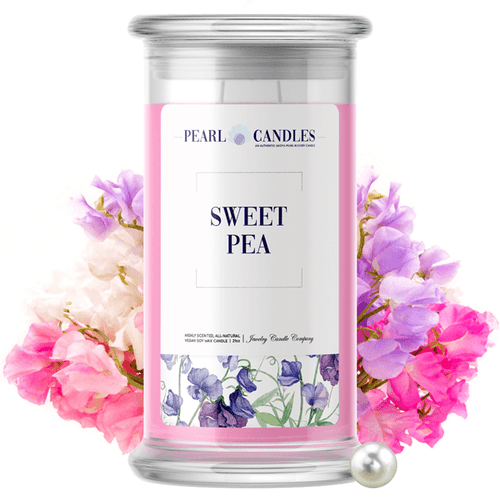 Sweet Pea | Pearl Candle®-Pearl Candles®-The Official Website of Jewelry Candles - Find Jewelry In Candles!