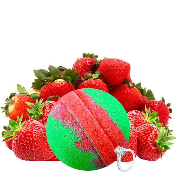 Strawberry Fields | Single Jewelry Bath Bomb®-Jewelry Bath Bombs-The Official Website of Jewelry Candles - Find Jewelry In Candles!