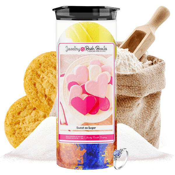 Sweet As Sugar | Jewelry Bath Bombs Twin Pack-Jewelry Bath Bombs-The Official Website of Jewelry Candles - Find Jewelry In Candles!