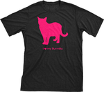 I Love My Burmilla | Must Love Cats® Hot Pink On Black Short Sleeve T-Shirt-Must Love Cats® T-Shirts-The Official Website of Jewelry Candles - Find Jewelry In Candles!