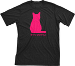 I Love My Chartreux | Must Love Cats® Hot Pink On Black Short Sleeve T-Shirt-Must Love Cats® T-Shirts-The Official Website of Jewelry Candles - Find Jewelry In Candles!