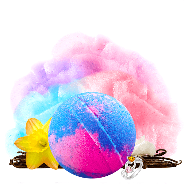 Cotton Candy | Single Ring Bath Bomb®-Single Ring Bath Bomb®-The Official Website of Jewelry Candles - Find Jewelry In Candles!