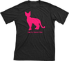 I Love My Devon Rex | Must Love Cats® Hot Pink On Black Short Sleeve T-Shirt-Must Love Cats® T-Shirts-The Official Website of Jewelry Candles - Find Jewelry In Candles!