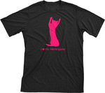I Love My Hemingway | Must Love Cats® Hot Pink On Black Short Sleeve T-Shirt-Must Love Cats® T-Shirts-The Official Website of Jewelry Candles - Find Jewelry In Candles!