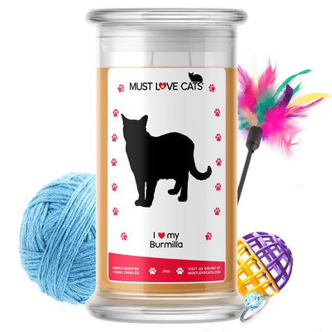 I Love My Burmilla | Must Love Cats® Candle-Must Love Cats® Candle-The Official Website of Jewelry Candles - Find Jewelry In Candles!