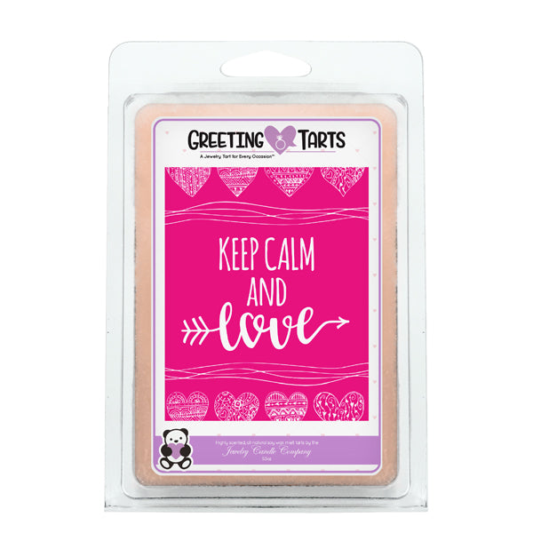 Keep Calm And Love | Greeting Tart-Greeting Tarts-The Official Website of Jewelry Candles - Find Jewelry In Candles!