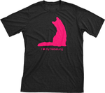I Love My Nebelung | Must Love Cats® Hot Pink On Black Short Sleeve T-Shirt-Must Love Cats® T-Shirts-The Official Website of Jewelry Candles - Find Jewelry In Candles!