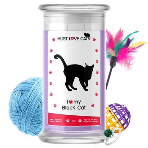 I Love My Black Cat | Must Love Cats® Candle-Must Love Cats® Candle-The Official Website of Jewelry Candles - Find Jewelry In Candles!
