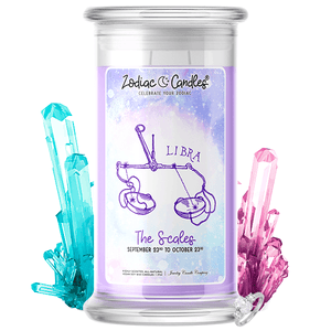 Libra | Zodiac Candle®-Zodiac Candles®-The Official Website of Jewelry Candles - Find Jewelry In Candles!