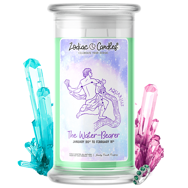 Aquarius | Zodiac Candle®-Zodiac Candles®-The Official Website of Jewelry Candles - Find Jewelry In Candles!