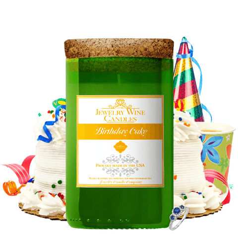 Birthday Cake | Jewelry Wine Candle®-Jewelry Wine Candles-The Official Website of Jewelry Candles - Find Jewelry In Candles!