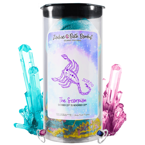 Scorpio | Jewelry Zodiac Bath Bombs-Zodiac Jewelry Bath Bombs®-The Official Website of Jewelry Candles - Find Jewelry In Candles!