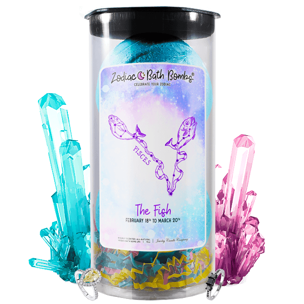 Pisces | Jewelry Zodiac Bath Bombs-Zodiac Jewelry Bath Bombs®-The Official Website of Jewelry Candles - Find Jewelry In Candles!
