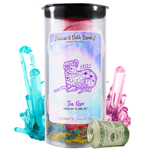 Aries | Zodiac Cash Bath Bombs-Zodiac Cash Bath Bombs-The Official Website of Jewelry Candles - Find Jewelry In Candles!