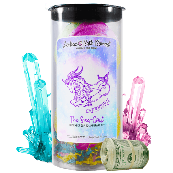 Capricorn | Zodiac Cash Bath Bombs-Zodiac Cash Bath Bombs-The Official Website of Jewelry Candles - Find Jewelry In Candles!