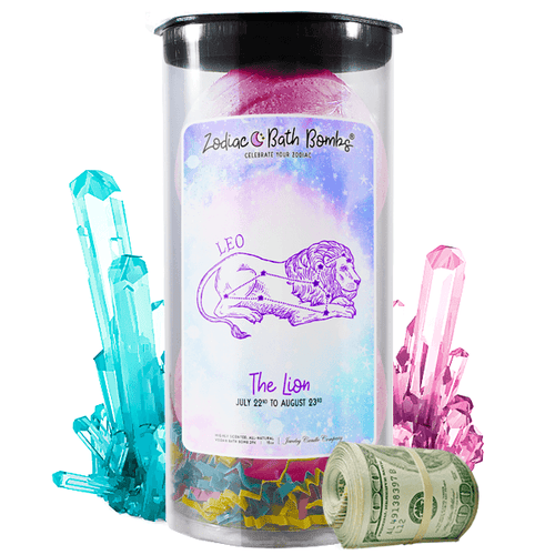 Leo | Zodiac Cash Bath Bombs-Zodiac Cash Bath Bombs-The Official Website of Jewelry Candles - Find Jewelry In Candles!