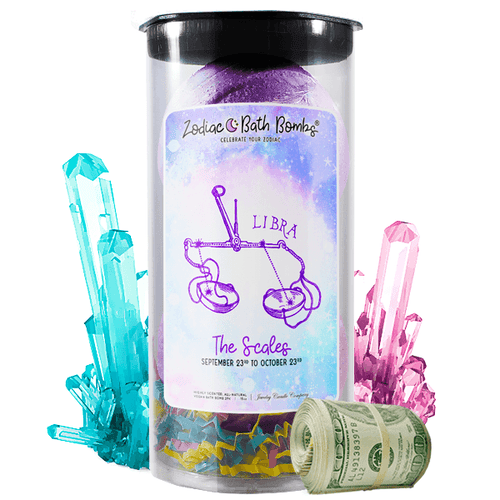 Libra | Zodiac Cash Bath Bombs-Zodiac Cash Bath Bombs-The Official Website of Jewelry Candles - Find Jewelry In Candles!