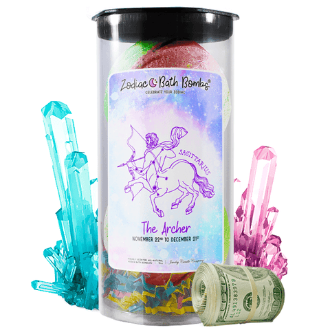 Sagittarius | Zodiac Cash Bath Bombs-Zodiac Cash Bath Bombs-The Official Website of Jewelry Candles - Find Jewelry In Candles!
