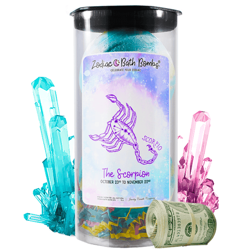 Scorpio | Zodiac Cash Bath Bombs-Zodiac Cash Bath Bombs-The Official Website of Jewelry Candles - Find Jewelry In Candles!