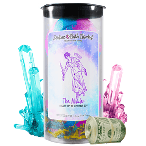 Virgo | Zodiac Cash Bath Bombs-Zodiac Cash Bath Bombs-The Official Website of Jewelry Candles - Find Jewelry In Candles!