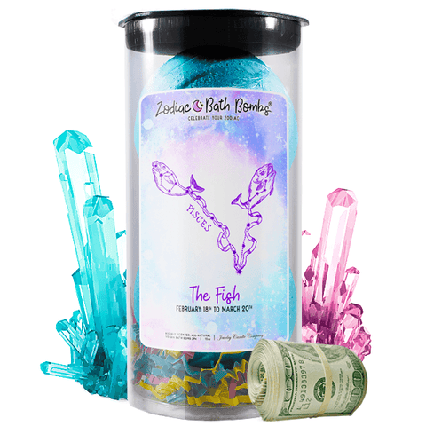 Pisces | Zodiac Cash Bath Bombs-Zodiac Cash Bath Bombs-The Official Website of Jewelry Candles - Find Jewelry In Candles!