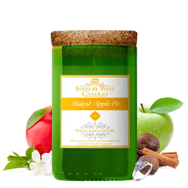 Baked Apple Pie | Jewelry Wine Candle®-Jewelry Wine Candles-The Official Website of Jewelry Candles - Find Jewelry In Candles!