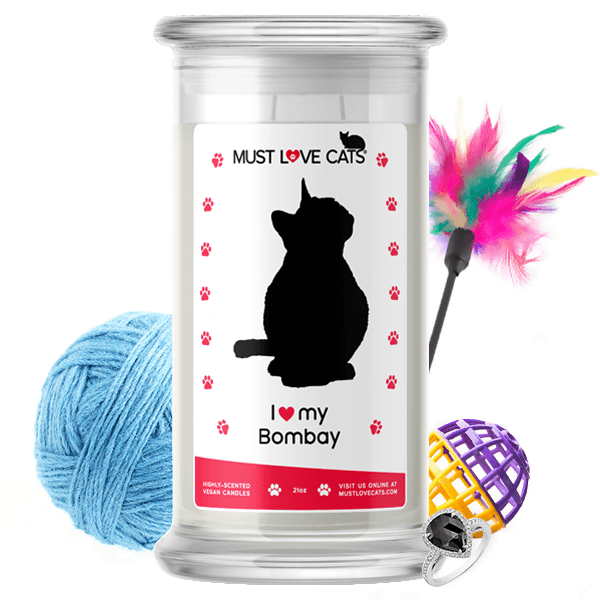 I Love My Bombay | Must Love Cats® Candle-Must Love Cats® Candle-The Official Website of Jewelry Candles - Find Jewelry In Candles!