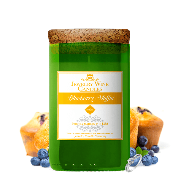 Blueberry Muffin | Jewelry Wine Candle®-Jewelry Wine Candles-The Official Website of Jewelry Candles - Find Jewelry In Candles!