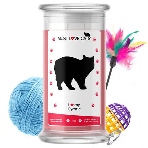 I Love My Cymric | Must Love Cats® Candle-Must Love Cats® Candle-The Official Website of Jewelry Candles - Find Jewelry In Candles!