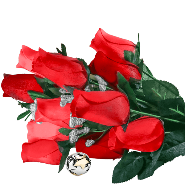 Red Bouquet Charm Roses