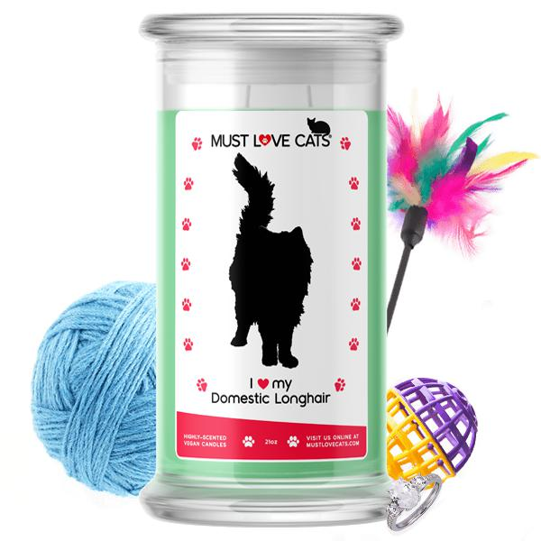 I Love My Domestic Longhair | Must Love Cats® Candle-Must Love Cats® Candle-The Official Website of Jewelry Candles - Find Jewelry In Candles!