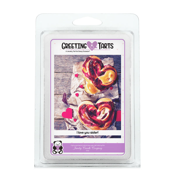 I Love You Sister! | Greeting Tart-Greeting Tarts-The Official Website of Jewelry Candles - Find Jewelry In Candles!